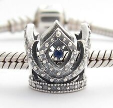 LITTLE PRINCESS CROWN CHARM Bead Sterling Silver .925 for European Bracelet 805