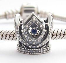 LITTLE PRINCESS CROWN CHARM Bead Sterling Silver .925 for European Bracelet 805