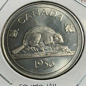 1936  CANADA EDWARD VIII FANTASY BEAVER CROWN LOW MINTAGE