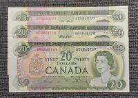 1969 Canada Lawson Bouey BC-50b $20.00 Banknote  Uncirculated 3 Consecutive