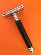 Vintage Black Handel Safety Razor +double edge shaving blades shaver