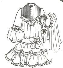 "Sewing Pattern doll size 20-21"" Vintage Fashion doll Modern Communion dress996"