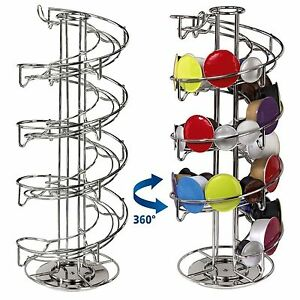 Revolving Rotating Spiral Capsule Coffee Pod Holder Tower Stand Rack Dolce Gusto