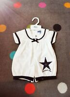 New Baby Boys Or Girls unisex Sailor Romper Age 3-6 Months Spanish Romany style