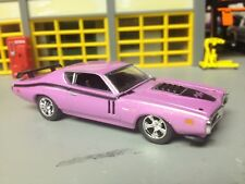 1/64 71 Dodge Charger R/T in Pink Pearl with a 440 6-pak & Air Grabber Hood