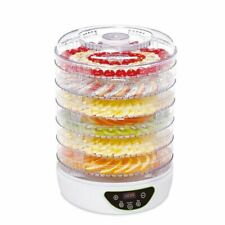 electriQ EDFD04 BPA Free Digital Food Dehydrator & Dryer with 6 Collapsible Shelves and 48 Hour Timer - White