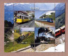 High Speed Trains Tren, Zug MNH Minisheet of 4 q25-11