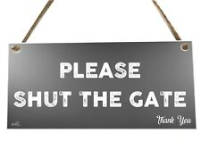Por favor, cierra la puerta Signo De Placa de cotización de Madera Novedad Regalo fcp66