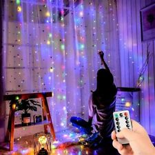 LED String Fairy Net Lights Curtain Mesh Christmas Party Garden Outdoor Indoor