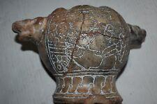 """Orig $399. Pre Columbian Mayan Figured Jaquar Bowl,preclassic 8"""" Prov"""