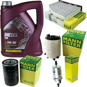 Motor-Öl 5L MANNOL Diesel TDI 5W-30+MANN-FILTER VW Golf Plus 5M1 521 1.6 Bi-Fuel