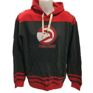 NBA Men's New Atlanta Hawks Hoody Sweatshirt Medium Large XL Grey/Red Hoodie