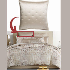 NEW $150 Hotel Collection Fresco Quilted (1) European Eur0 Sham Case Gold #275