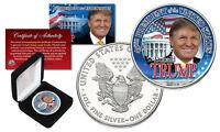 DONALD TRUMP 45th President 2016 1 oz PURE SILVER AMERICAN US EAGLE w/Deluxe Box