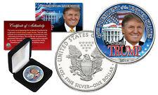 DONALD TRUMP 45th President 2021 1 oz PURE SILVER AMERICAN US EAGLE w/Deluxe Box
