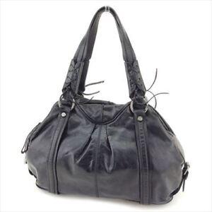 Francesco Biasia Tote bag Black Silver leather Woman F1340