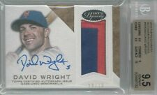 2016 Topps Dynasty David Wright Game Used Patch Auto #'ed 10/10 BGS 9.5