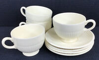"Wedgwood Edme Set Of 4 Footed Cups and Saucers  2 3/4"" Cups Made in England"