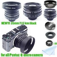 35mm f/1.6 C Mount CCTV Lens for Pentax Q / Q10 / Q7 / Q-S1 / K-01 camera Black