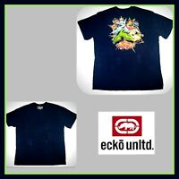 3XL 3XB ECKO UNLTD MEN GRAPHIC DOUBLE SIDED EMBROIDERED LOGO T SHIRT Tee 3X XXXL