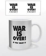 WAR IS OVER 11 OZ COFFEE MUG POLITICS GOVERNMENT TRUMP HILLARY PEACE LOVE HAPPY!