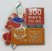 SYDNEY 2000 OLYMPICS PIN 300 DAYS to GO PIN - PLATYPUS SYD & OLYMPIC TORCH PIN