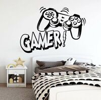 Video Gamer Controller Wall Decal Vinyl Wall Sticker Large Free Shipping Sale