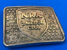 Vintage NRA Riffle Gun  Assn.  2 Million Club  Belt Buckle