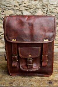 Handmade Genuine Leather Vintage Shoulder Women Satchel Laptop Briefcase Bag