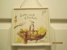 "Marjolein Bastin By Hallmark Plaque "" Scatter Seeds of Kindness """