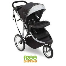 3 wheel Jogging Stroller Folding Baby Carriage Kids Child Pram Gray New!