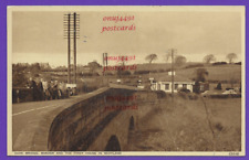 Sark Bridge, Border and the first House in Scotland. Unposted Photochrom card