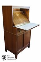 Vtg American Optical Co Walnut Lens Cabinet Display Case Optometry Secretary