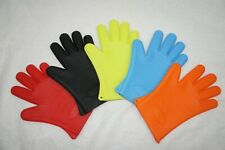 1 PAIR BBQ HEAT RESISTANT SILICONE GLOVES COOKING MITTS KITCHEN OVEN GRILL  NEW