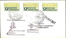 Deutsche Schiffspost MS EUROPA Gäste-Kreuzfahrt 1982 mit Automaten-Briefmarken