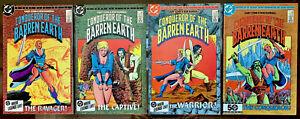 CONQUEROR OF THE BARREN EARTH #1-4 in NEAR MINT- condition DC Bronze Age comics