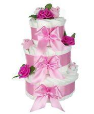 Taufe Geschenke Hochwertige Xxl Windeltorte Für Mädchen Rosa