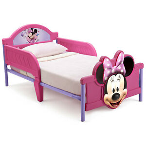 Disney Minnie Mouse 3D Toddler Bed Kids Cot Gift Pink Children Delta Children