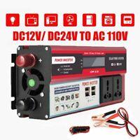 6000W Peak Car Vehicle Power Inverter DC 12V to AC 110V 120V USB Converter Trip