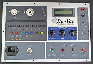 Digital vacuum tube tester KIT, Duokit 2 with the front panel