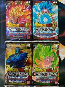 Dragon Ball Super Card Game Destroyer Kings B06 Bandai 4x Sealed Booster Pack