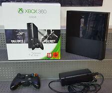 Console Xbox 360 avec 500 GB Base NOIR EN EMBALLAGE ORIGINAL CARTON VOIR PHOTO