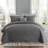 Embossed Quilted Bedspread Coverlet Quilt Set with Pillow Shams Bedding Cover