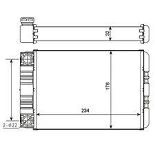 NRF Heat Exchanger, interior heating 54274