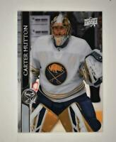 2020-21 UD Series 1 Clear Cut #22 Carter Hutton - Buffalo Sabres