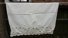 """Off White Floral Cut Work Cafe Window Curtain Panel 24""""X30"""" Free Shipping"""