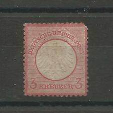 Germany 1872 3Kr Rose Small Shield sc 9 CV$1750 Mint No Gum