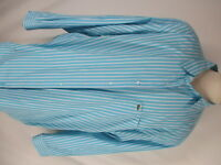 Lacoste Mens Green Blue Stripe Long Sleeve Cotton Shirt 3XL