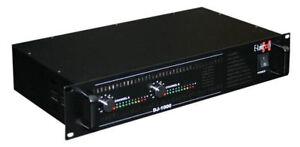 E-Lektron DJ-1000 stereo DJ Party PA-Verstärker Endstufe 19-Zoll/2HE Rackeinbau