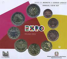 "ITALIA Divisionale 9 valori fior di conio 2015 ""EXPO"""